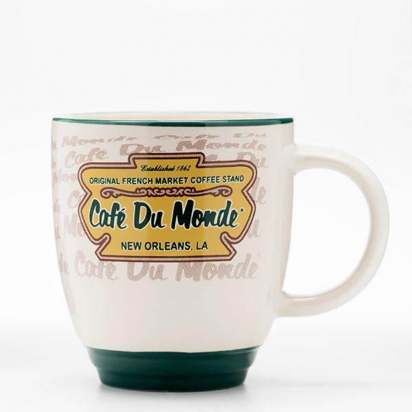Cafe du Monde Tan and Green Coffee Mug