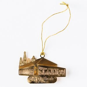 Cafe du Monde Gold Metal Ornament