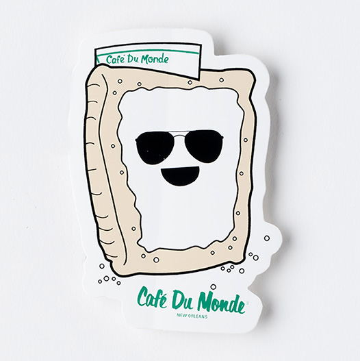 Cafe du Monde Beignet Hat Sticker