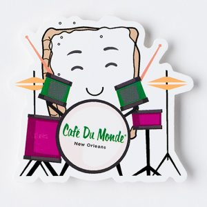Cafe du Monde Beignet on the Drums Sticker