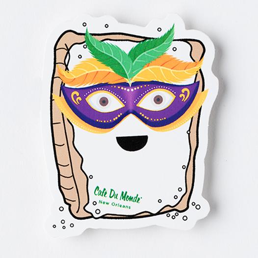 Cafe du Monde Mardi Gras Beignet Sticker