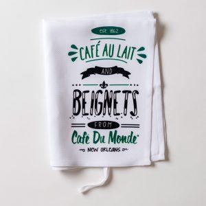 Cafe du Monde Cafe au Lait Towel