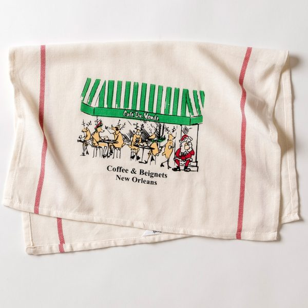 Cafe du Monde Christmas Towel