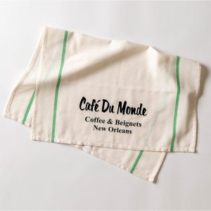 Cafe du Monde Green Stripe Towel