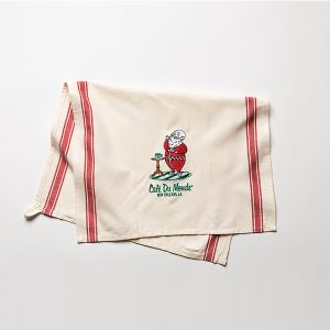 Santa and Beignets Christmas Towel