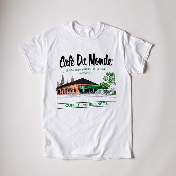 Cafe du Monde White Gildan Tee Shirt