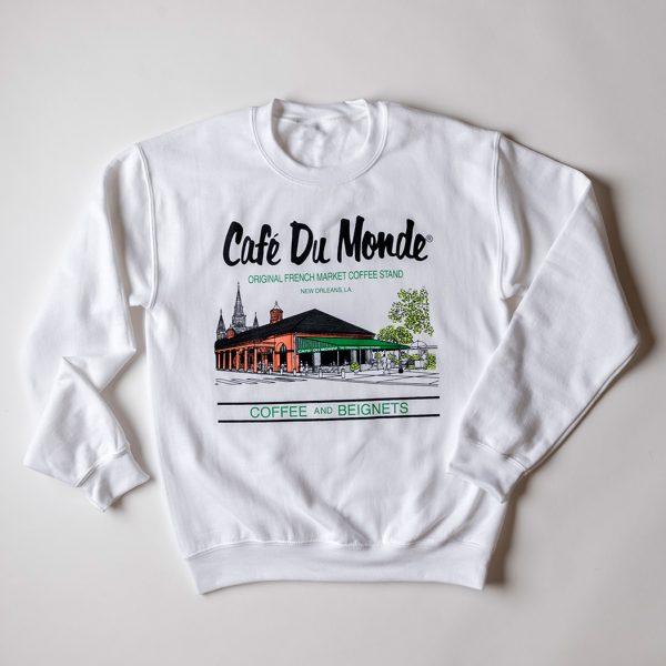 Cafe du Monde White Gildan Sweatshirt