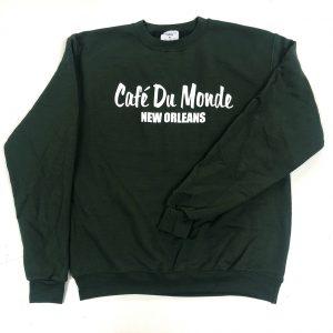 Cafe du Monde Green Crew Sweatshirt